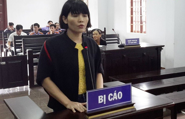Bị cáo Nguyễn Thị Thanh Nga tại tòa sơ thẩm