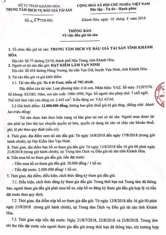 Ngày 24/8/2018, đấu xe ô tô tại Khánh Hòa - ảnh 1