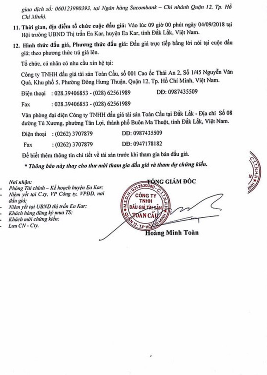 Ngày 4/9/2018, đấu giá quyền sử dụng đất tại huyện Ea Kart, Đắk Lắk - ảnh 3