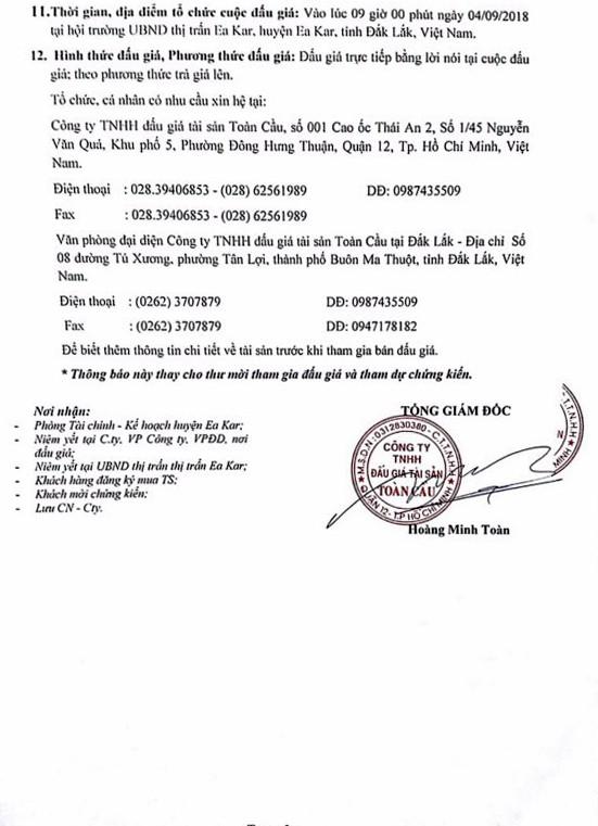 Ngày 4/9/2018, đấu giá quyền sử dụng đất cho thuê tại huyện Ea Kart, Đắk Lắk - ảnh 3