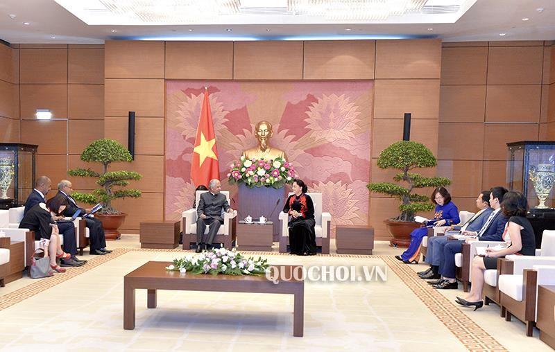 Chủ tịch Quốc hội tiếp Điều phối viên Thường trú LHQ và Trưởng Đại diện UNICEF tại Việt Nam - ảnh 1