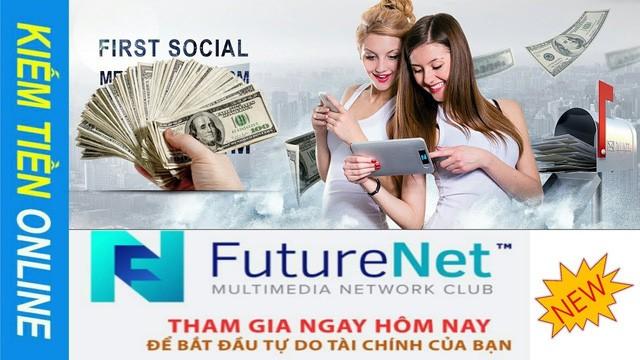 FutureNet quảng cáo một cách rầm rộ trên mạng.