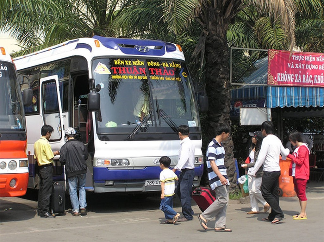Xe khách thuộc Công ty Thuận Thảo