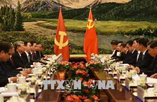 Tổng Bí thư, Chủ tịch Trung Quốc Tập Cận Bình tiếp đồng chí Trần Quốc Vượng - ảnh 1