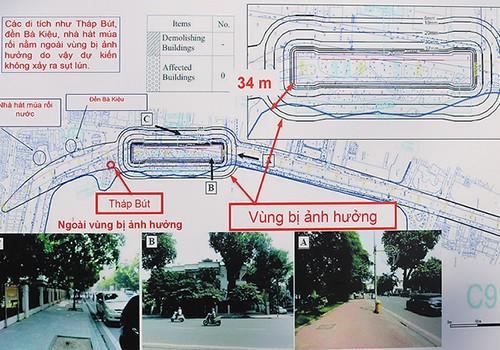 Ban quản lý dự án tranh luận việc 'tàu điện ngầm xâm phạm di tích Hồ Gươm' - ảnh 1