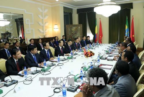 Chủ tịch nước Trần Đại Quang hội đàm với Tổng thống Ethiopia - ảnh 1