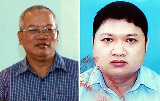 Trần Trung Chí Hiếu (bên trái) và Vũ Đình Duy một thời là thuộc cấp của Trịnh Xuân Thanh.