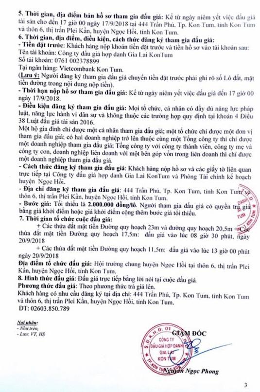 Ngày 20/9/2018, đấu giá quyền sử dụng 43 lô đất tại huyện Ngọc Hồi, Kon Tum - ảnh 3