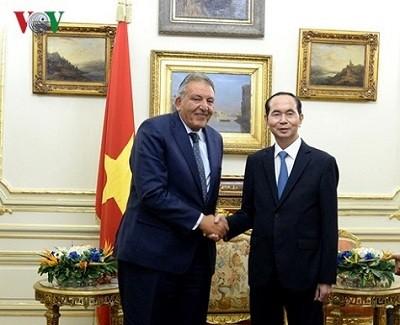Chủ tịch nước tiếp Chủ tịch Phòng Thương mại Ai Cập Ahmed M.El-Wakila
