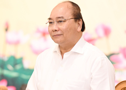 Thủ tướng Nguyễn Xuân Phúc tại cuộc làm việc với lãnh đạo tỉnh Quảng Ninh. Ảnh: VGP.