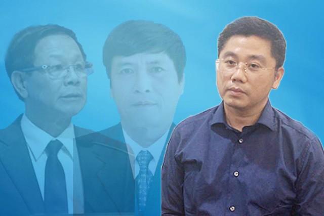 Phan Văn Vĩnh và Nguyễn Thanh Hóa (ảnh mờ) bị cáo buộc bảo kê cho đường dây đánh bạc nghìn tỷ qua mạng do Nguyễn Văn Dương (bìa phải) và Phan Sào Nam cầm đầu.