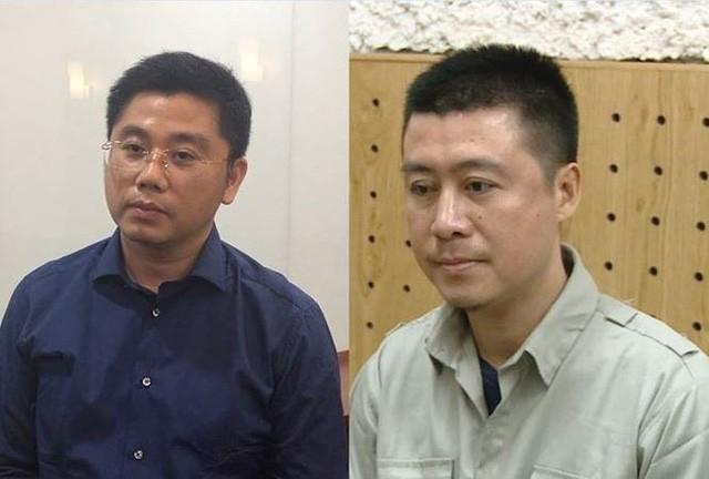 Bị can Phan Sào Nam (phải) và Nguyễn Văn Dương.