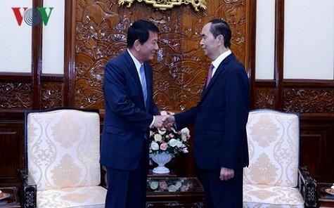 Chủ tịch nước Trần Đại Quang tiếp Đại sứ đặc biệt Việt - Nhật, Nhật - Việt Ryotaro Sugi