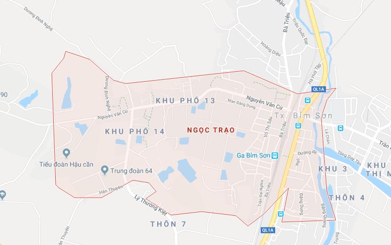 Phường Ngọc Trạo, thị xã Bỉm Sơn nằm sát quốc lộ 1A