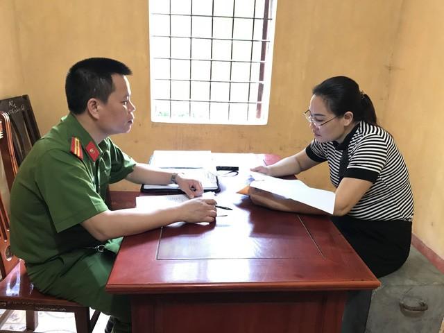 Đối tượng Trịnh Thị Thanh tại cơ quan công an