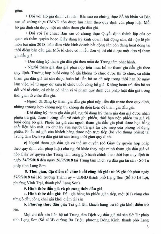 Ngày 27/9/2018, đấu giá quyền sử dụng đất tại thành phố Lạng Sơn, Lạng Sơn - ảnh 3
