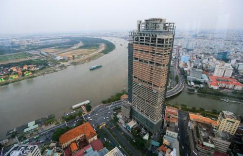 Tòa nhà Saigon One Tower - một trong những dự án đầu tiên được đưa ra đấu giá để thu hồi nợ.