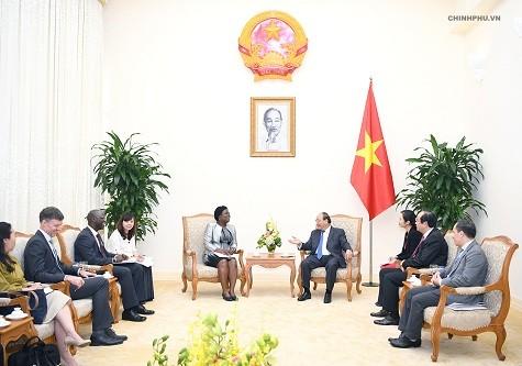Thủ tướng tiếp Phó Chủ tịch WB phụ trách khu vực Đông Á-Thái Bình Dương - ảnh 1