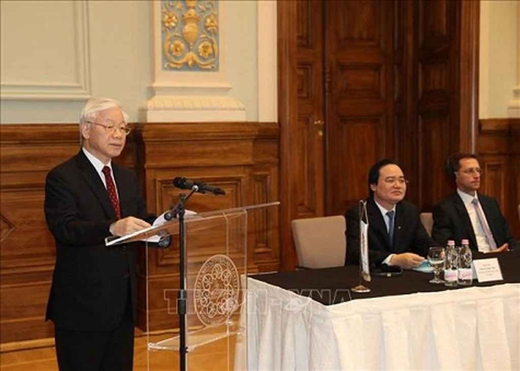 Tổng Bí thư Nguyễn Phú Trọng phát biểu tại Hội nghị - Ảnh: TTXVN