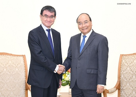Thủ tướng tiếp Bộ trưởng Ngoại giao Nhật Bản - ảnh 1