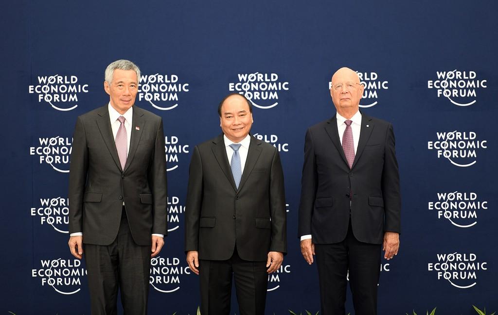 Chùm ảnh: Thủ tướng chủ trì lễ đón các trưởng đoàn dự WEF ASEAN 2018 - ảnh 3