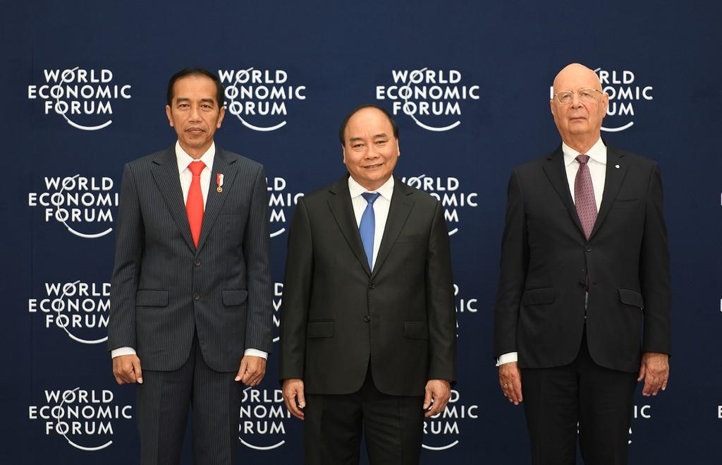 Chùm ảnh: Thủ tướng chủ trì lễ đón các trưởng đoàn dự WEF ASEAN 2018 - ảnh 4