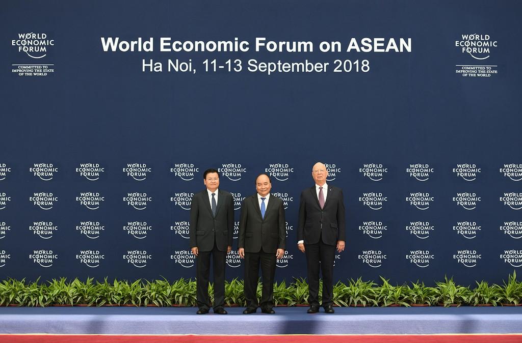 Chùm ảnh: Thủ tướng chủ trì lễ đón các trưởng đoàn dự WEF ASEAN 2018 - ảnh 5