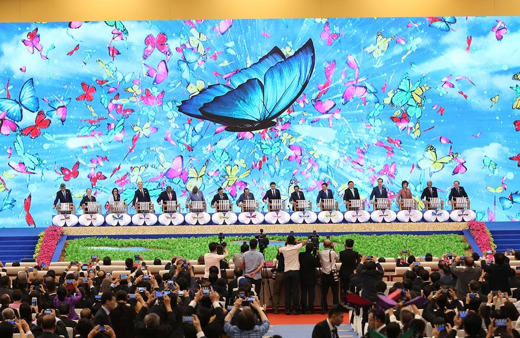 Lễ khai mạc Hội chợ CAEXPO và Hội nghị CABIS. Ảnh: VGP