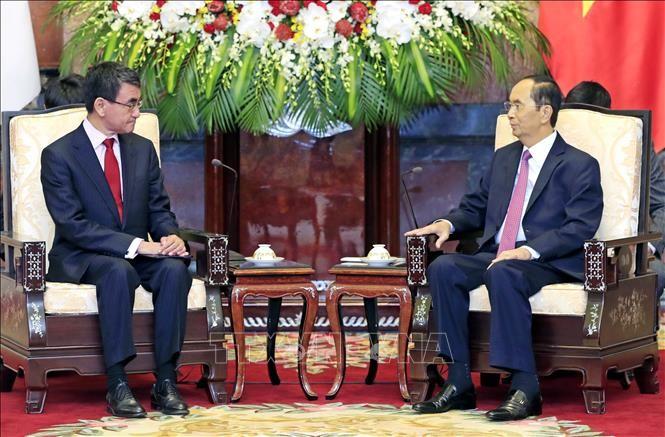 Chủ tịch nước Trần Đại Quang tiếp Bộ trưởng Ngoại giao Nhật Bản - ảnh 1
