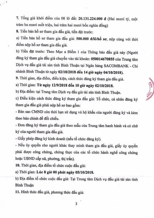 Ngày 5/10/2018, đấu giá quyền sử dụng 8 lô đất tại thành phố Phan Thiết, Bình Thuận - ảnh 3