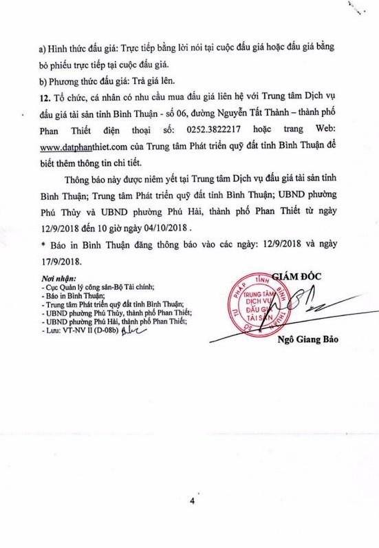 Ngày 5/10/2018, đấu giá quyền sử dụng 8 lô đất tại thành phố Phan Thiết, Bình Thuận - ảnh 4