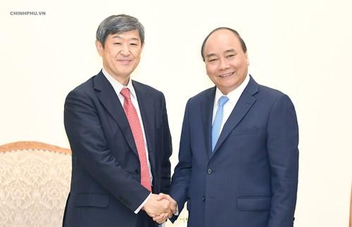 Thủ tướng tiếp Chủ tịch JICA Shinichi Kitaoka. Ảnh: VGP