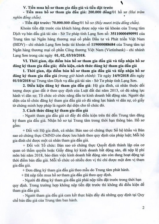 Ngày 4/10/2018, đấu giá quyền sử dụng đất tại huyện Hữu Lũng, Lạng Sơn - ảnh 2