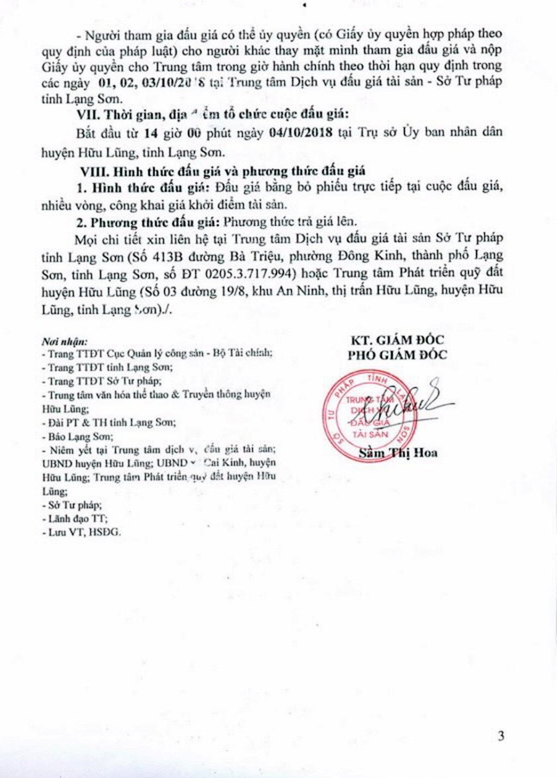 Ngày 4/10/2018, đấu giá quyền sử dụng đất tại huyện Hữu Lũng, Lạng Sơn - ảnh 3
