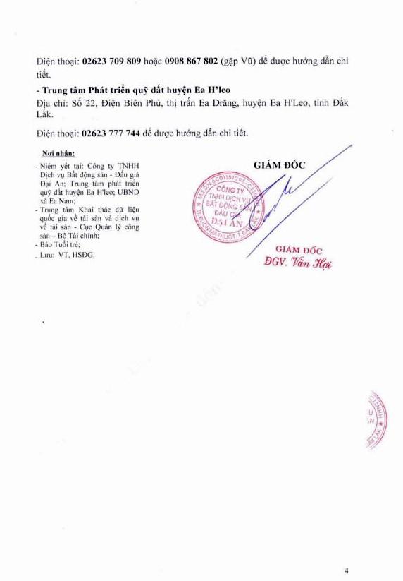 Ngày 5/10/2018, đấu giá quyền sử dụng đất tại huyện Ea H'Leo, tỉnh Đắk Lắk - ảnh 4