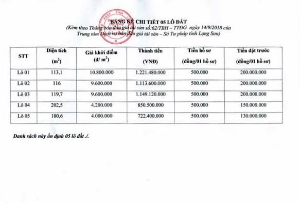 Ngày 11/10/2018, đấu giá quyền sử dụng đất tại huyện Hữu Lũng, Lạng Sơn - ảnh 4