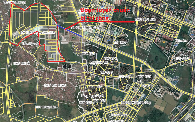 Hàng nghìn cư dân khu vực Vân Canh sẽ hưởng lợi khi tuyến đường này được xây dựng