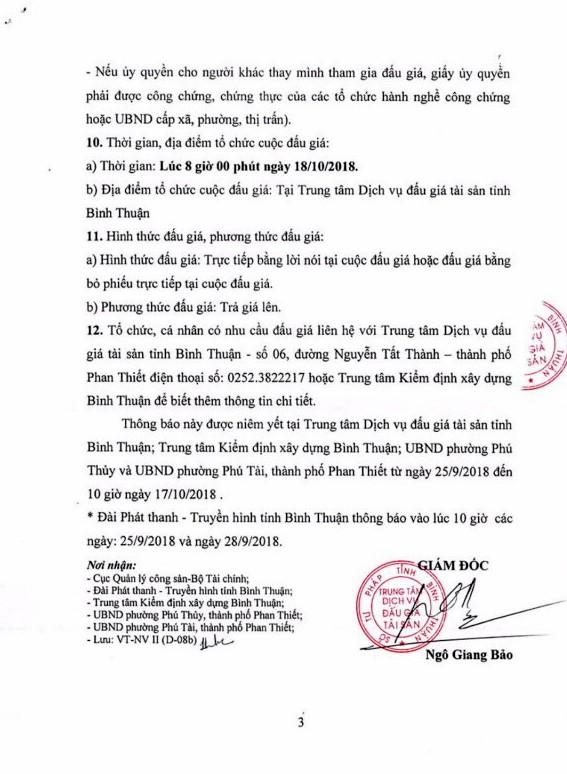 Ngày 18/10/2018, đấu giá cho thuê quyền sử dụng chung cư tại thành phố Phan Thiết, Bình Thuận - ảnh 3