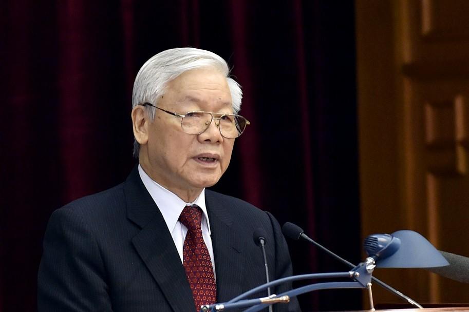 Tổng Bí thư Nguyễn Phú Trọng phát biểu tại Hội nghị. Ảnh: VGP