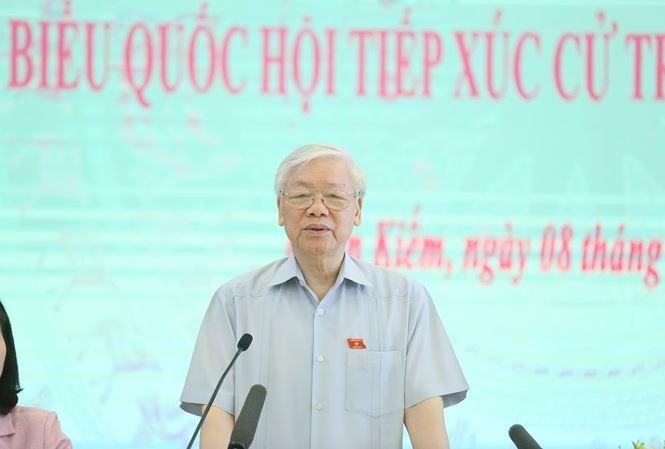 Tổng Bí thư Nguyễn Phú Trọng tiếp xúc cử tri tại Hà Nội - ảnh 2