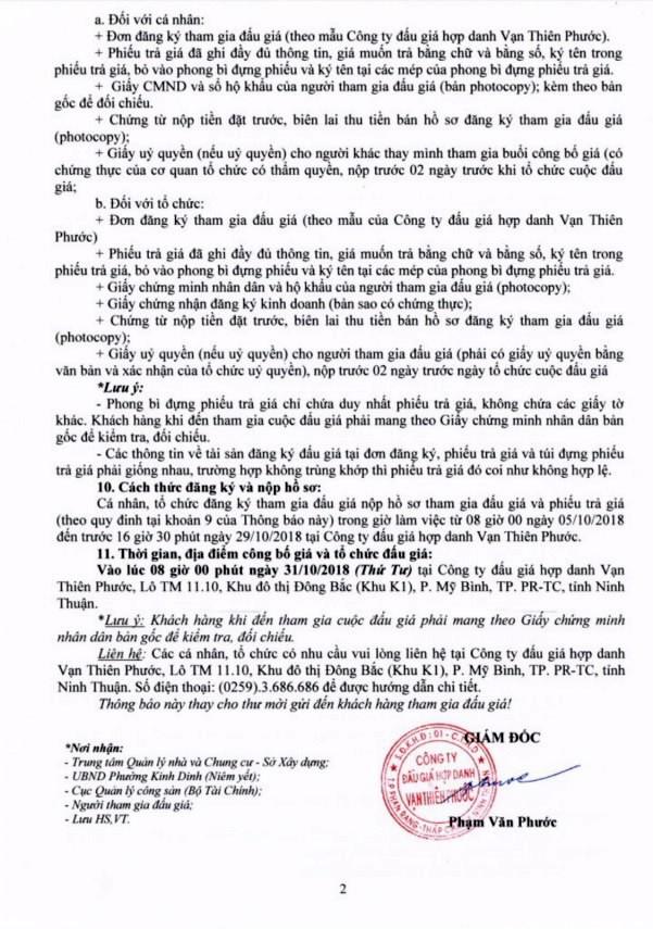 Ngày 31/10/2018, đấu giá quyền sử dụng đất tại thành phố Phan Rang-Tháp Chàm, Ninh Thuận   - ảnh 2