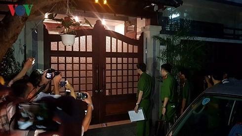 Khám nhà ông Đào Tấn Bằng- nguyên Phó Chánh Văn phòng UBND TP Đà Nẵng
