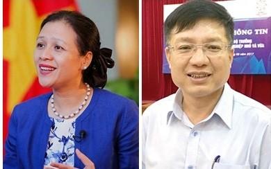 Thứ trưởng Bộ Ngoại giao Nguyễn Phương Nga; Phó Chủ tịch Ủy ban Quản lý vốn nhà nước tại doanh nghiệp Hồ Sỹ Hùng
