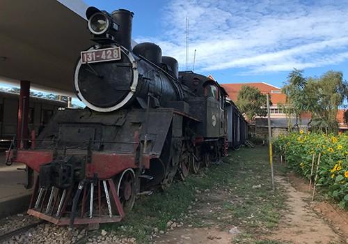 Ga Đà Lạt còn dấu tích tuyến đường sắt răng cưa được người Pháp xây dựng.