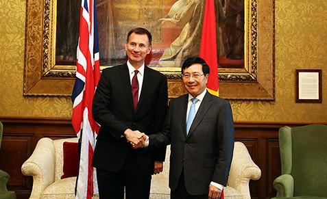 Phó Thủ tướng Phạm Bình Minh kết thúc chuyến thăm chính thức Anh - ảnh 1