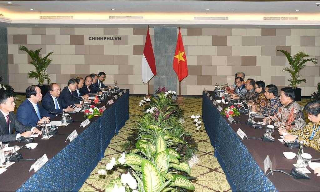 Thủ tướng Nguyễn Xuân Phúc hội đàm với Tổng thống Indonesia - ảnh 1