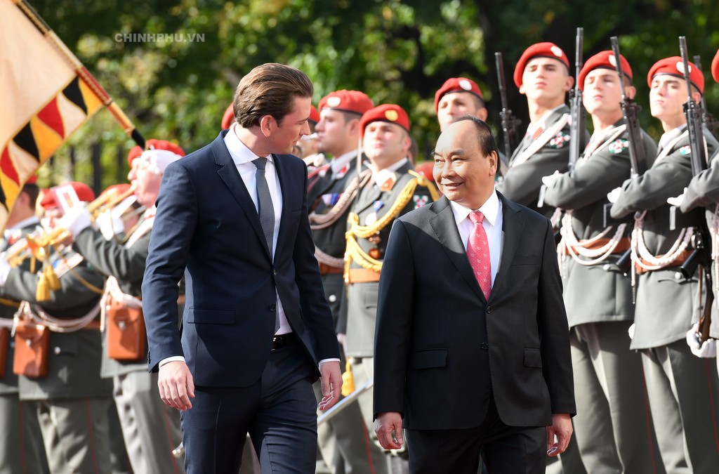 Chùm ảnh: Thủ tướng Cộng hòa Áo đón và hội đàm với Thủ tướng Nguyễn Xuân Phúc - ảnh 4