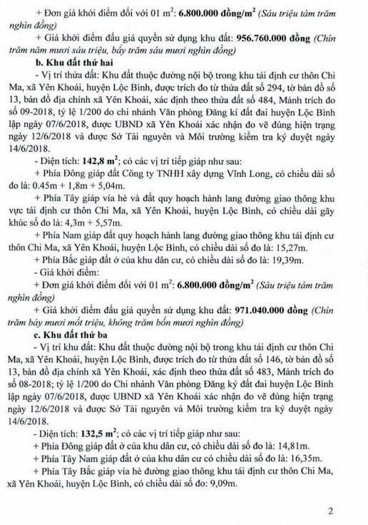 Ngày 2/11/2018, đấu giá quyền sử dụng đất tại huyện Lộc Bình, tỉnh Lạng Sơn - ảnh 2