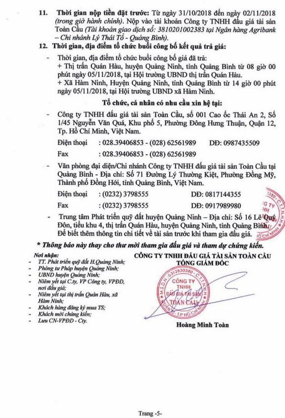 Ngày 5/11/2018, đấu giá quyền sử dụng đất tại huyện Quảng Ninh, Quảng Bình - ảnh 5