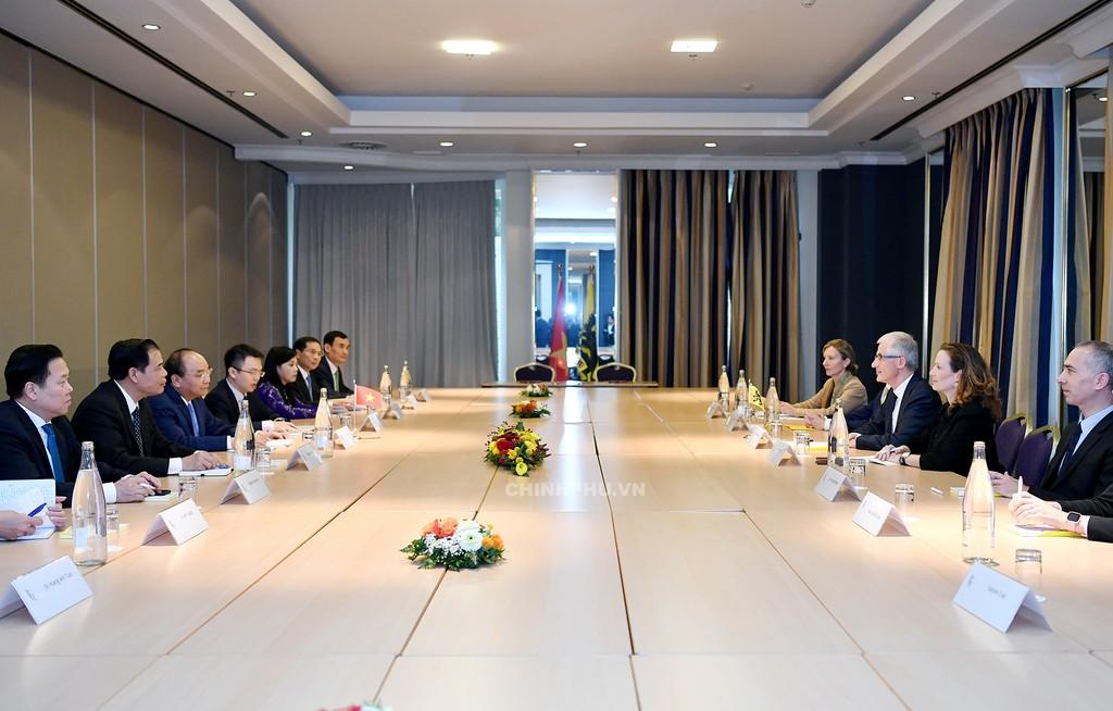 Thủ tướng tiếp một số Bộ trưởng-Chủ tịch vùng của Bỉ - ảnh 1
